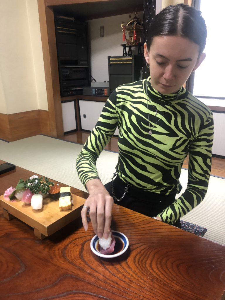 Sushi experience Tokyo explore sightseeing in Japan option